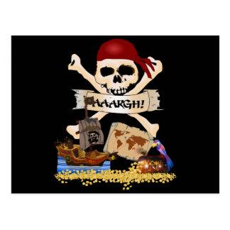 Pecho alegre de Rogelio, del barco pirata y del Tarjetas Postales
