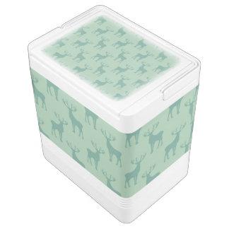 Pecho de hielo verde del modelo de los ciervos del hielera igloo