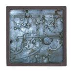 Pecho del metal con los mecanismos de la cerradura cajas de regalo de calidad