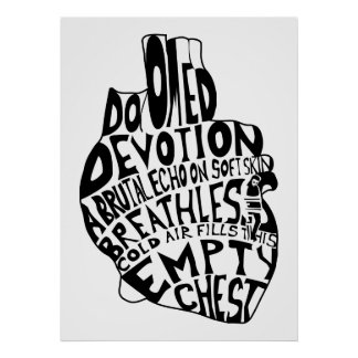 pecho vacío: corazón anatómico poster