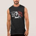 Pecho y escudo del ejercicio de la subida 2 camiseta sin mangas