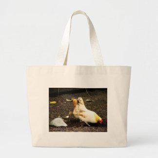 Peck de la gallina bolsa lienzo
