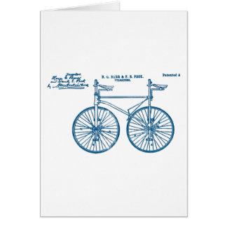 Peck en tándem del velocípedo 1891 de la bici tarjeta de felicitación