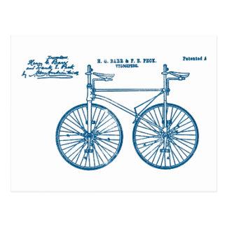 Peck en tándem del velocípedo 1891 de la bici tarjeta postal