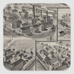 Peck, Stow & Wilcox factories Square Stickers