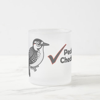 Pecker Checker Frosted Glass Coffee Mug