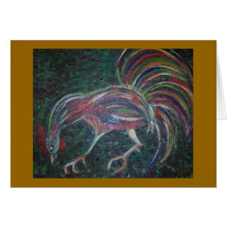 peckin' rooster card
