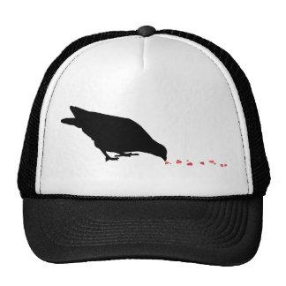 pecking order. blackbird & red hearts. trucker hats