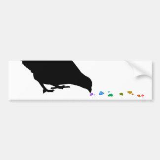 pecking order. car bumper sticker