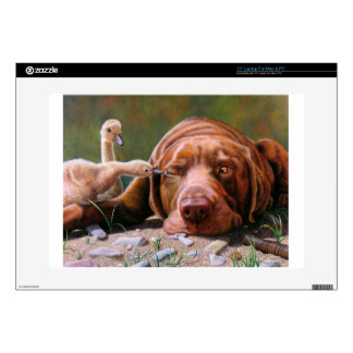 """Pecking Order, Chocolate Lab and Goslilngs Decals For 15"""" Laptops"""