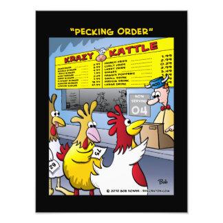"""""""Pecking Order"""" Photo Print"""