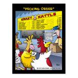 """""""Pecking Order"""" Postcard"""