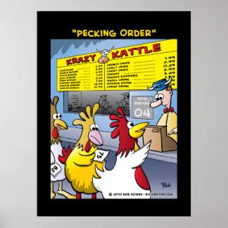 """""""Pecking Order"""" Poster"""