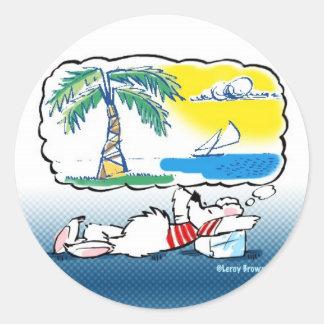 Peckinpaw Dreams! Classic Round Sticker