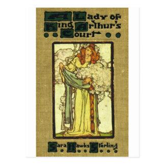 Peck's A Lady of  King Arthur's Court 1907 Postcard