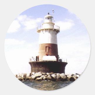 Pecks Ledge Lighthouse Classic Round Sticker
