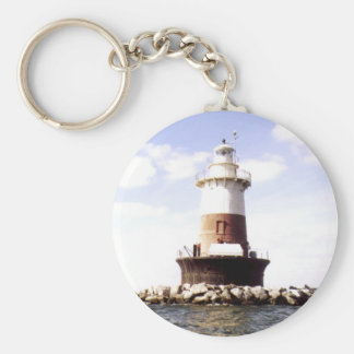 Pecks Ledge Lighthouse Keychain
