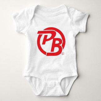 Pecky Boyz logo ID Red Baby Bodysuit