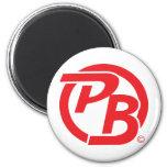 Pecky Boyz logo ID Red Magnets