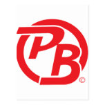 Pecky Boyz logo ID Red Post Card