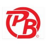 Pecky Boyz logo ID Red Post Cards