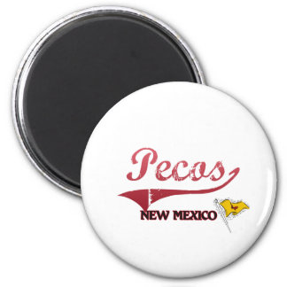 Pecos New Mexico City Classic 2 Inch Round Magnet