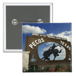 Pecos, Texas sign 2 Inch Square Button