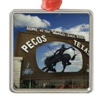 Pecos, Texas sign Metal Ornament