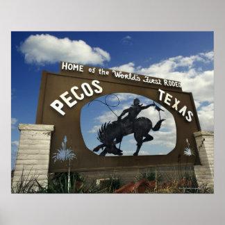 Pecos, Texas sign Poster