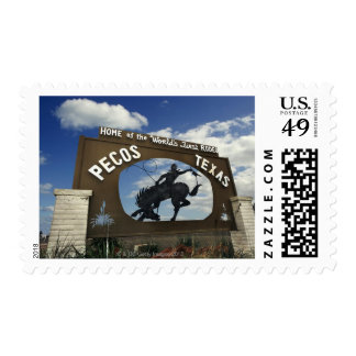 Pecos, Texas sign Stamp