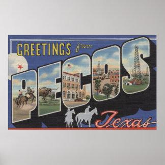 Pecos, TexasLarge Letter ScenesPecos, TX Poster