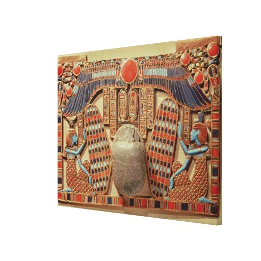 Pectoral decorated with the winged scarab stretched canvas print