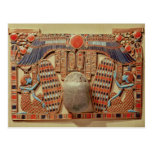 Pectoral decorated with the winged scarab post card