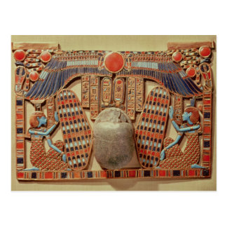 Pectoral decorated with the winged scarab postcard