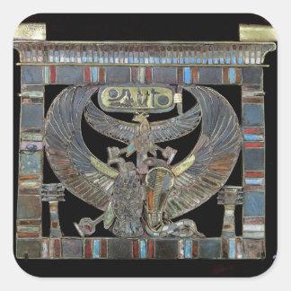 Pectoral del nuevo reino de Ramesses II Pegatina Cuadrada