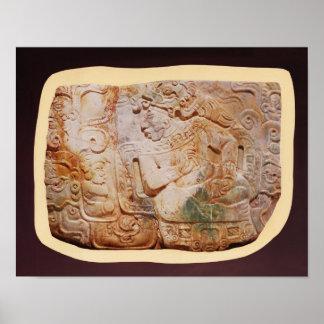 Pectoral del rey y de un cortesano de Tikal Posters