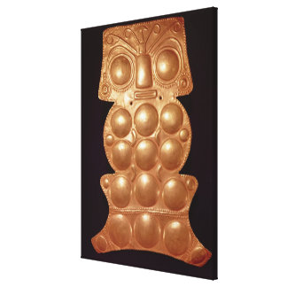 Pectoral found in the river Sinu pre-colombian g Gallery Wrap Canvas