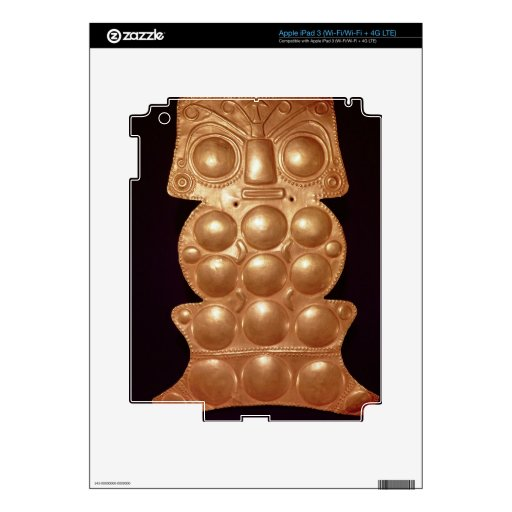 Pectoral found in the river Sinu, pre-colombian (g iPad 3 Decal