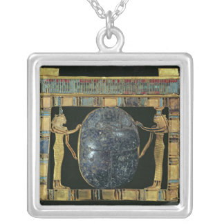 Pectoral of the vizier, Paser, with scarab Silver Plated Necklace