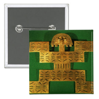 Pectoral ornament of the Tolima Region 2 Inch Square Button
