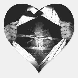 PectusAwareness Heart Stickers