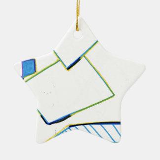 Peculiar Eccentric Source Ceramic Ornament