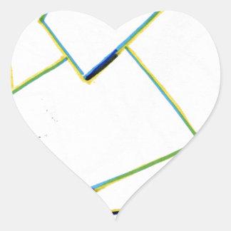 Peculiar Eccentric Source Heart Sticker
