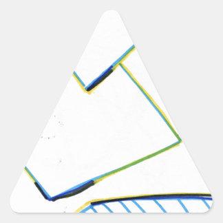 Peculiar Eccentric Source Triangle Sticker