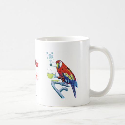 Peculiar Parrot Classic White Coffee Mug