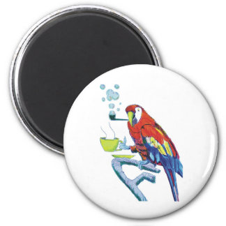 Peculiar Parrot 2 Inch Round Magnet