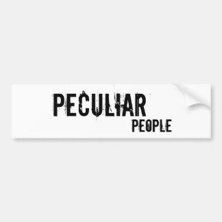 Peculiar, People Car Bumper Sticker
