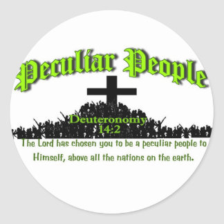 Peculiar People Round Stickers