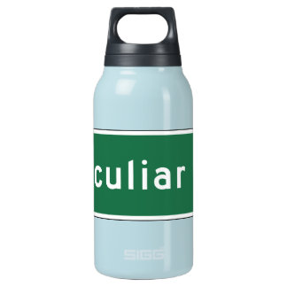 Peculiar, Road Marker, Missouri, USA Insulated Water Bottle