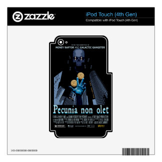 """Pecunia non olet"" (Money Does Not Stink) iPod Touch 4G Decal"